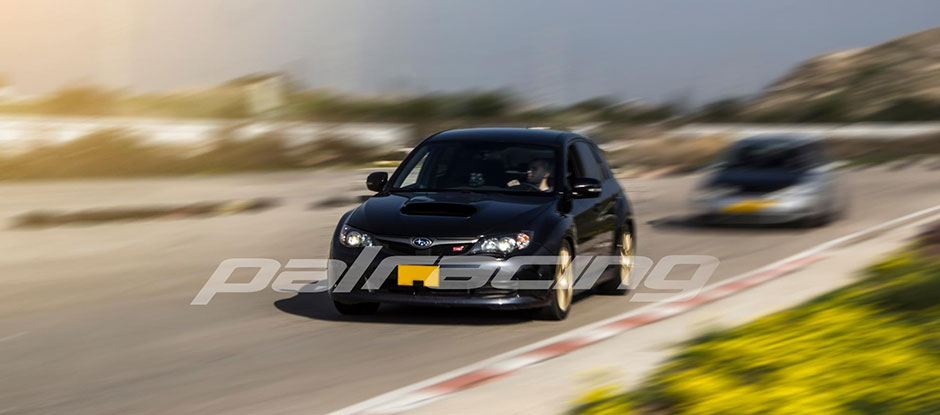 WRX STI on the track